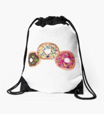 Neapolitan Donuts Drawstring Bag