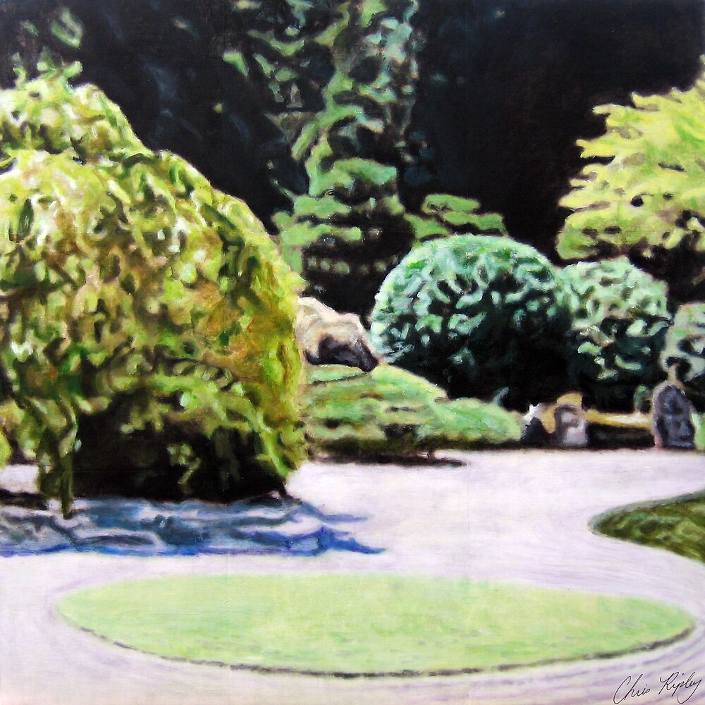 Zen Garden Composition- 1st panel by Christopher Ripley