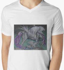 Black Crystal Pegasus Mare and Foal T-Shirt
