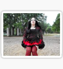 Goth Dolly - Red and Black Sticker