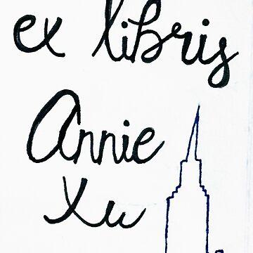 ex libris city skyline by Dreamseventeen