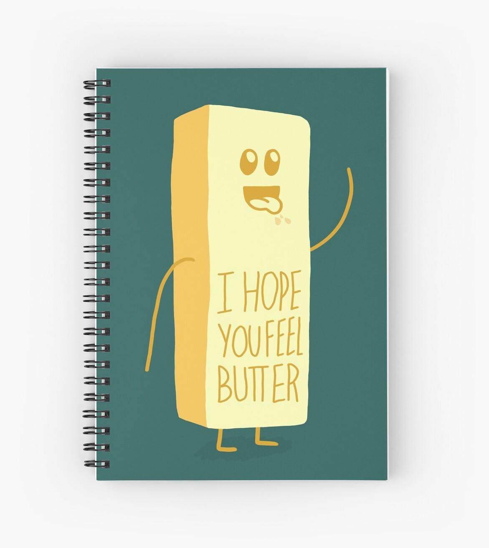 Cuadernos De Espiral Espero Que Te Sientas Mejor Mantequilla