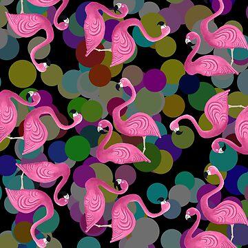 Flamingos and Polka Dots by dreamingcat