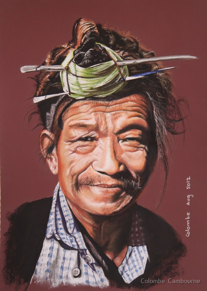 Man of the Nishi tribe by Colombe  Cambourne