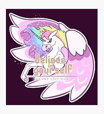 Believe in Yourself Unicorn Photographic Print