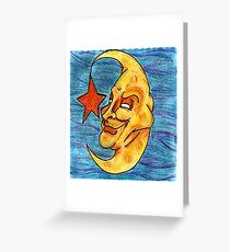 Sarcastic Moon  Greeting Card