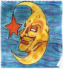Sarcastic Moon  Poster