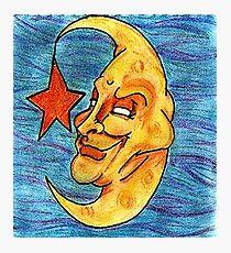 Sarcastic Moon  Photographic Print