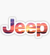 Sonnenuntergang Jeep Sticker