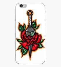 Naruto Green Konoha Kunai Through Rose iPhone Case