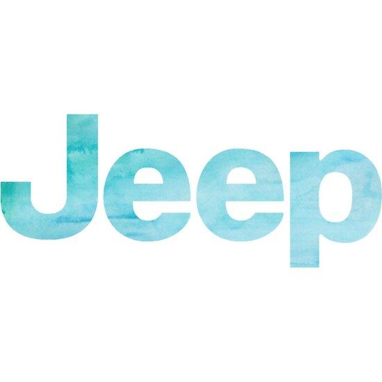 Teal Watercolor Jeep by annmariestowe