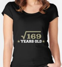 Square Root Of 169 Years Old Shirt Women's Fitted Scoop T-Shirt