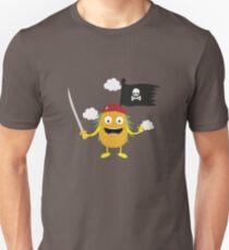 Pineapple Pirate with Flag Ryrdv T-Shirt