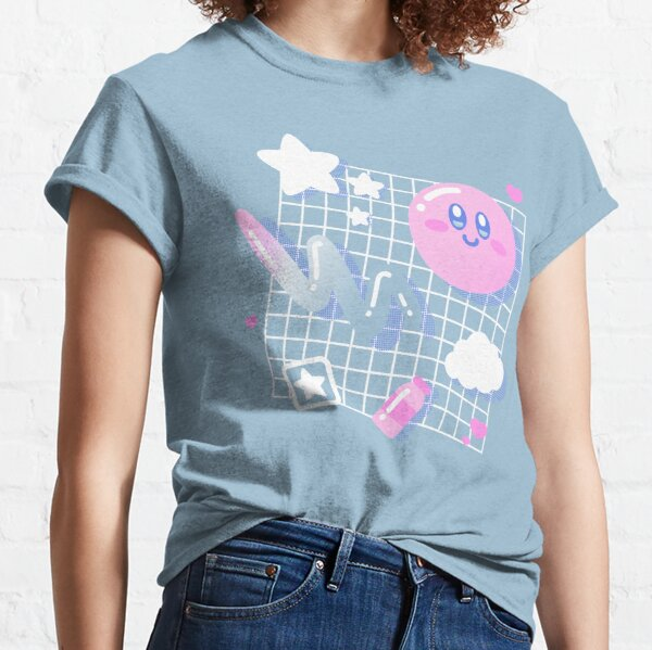 Rosa Puff Estética Camiseta clásica