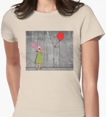 Banksy's Burgers Womens Fitted T-Shirt