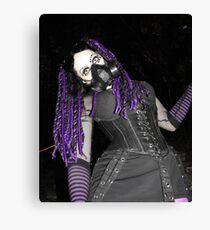 Cybergoth Girl in Purple Canvas Print