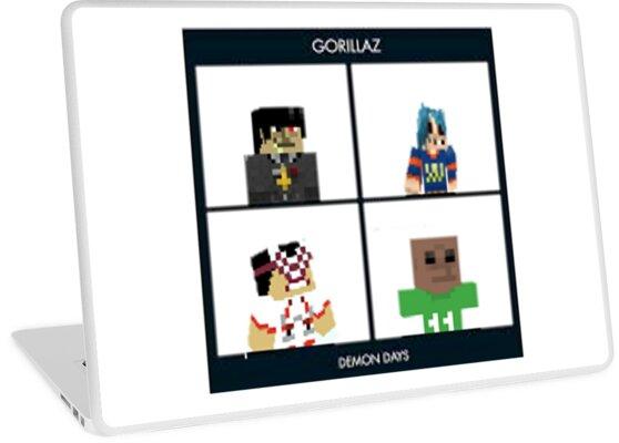 Gorillaz Minecraft Meme Laptop Skins By TrashyMemes Redbubble - Minecraft skins fur tablet