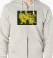 Yellow Orchid , Zipped Hoodie
