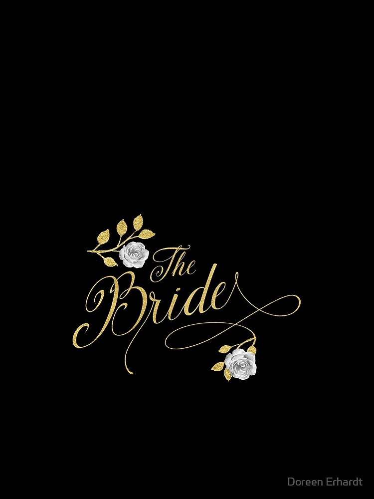 The Bride Faux Gold Leaf Wedding Collection by SalonOfArt