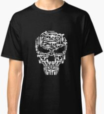Skull and Guns and Knives Graphic T shirt Tees Collections Classic T-Shirt