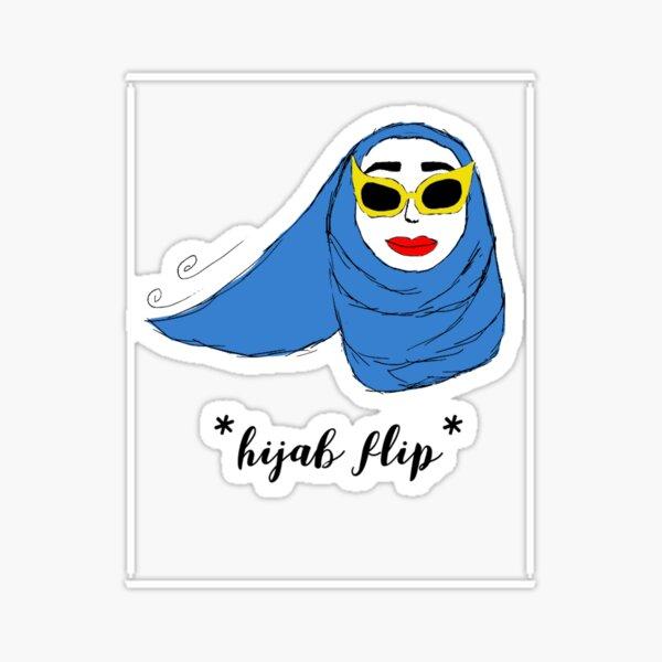 Cue Hijab Flip Sticker