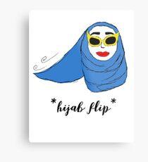 Cue Hijab Flip Metal Print