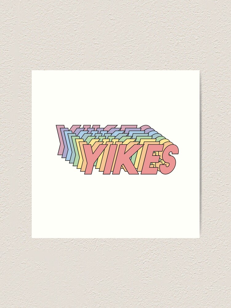 Alternate view of YIKES Art Print