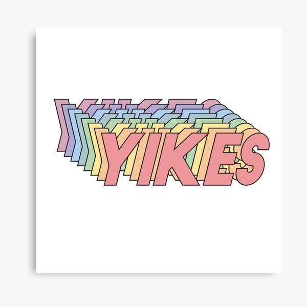 YIKES Canvas Print