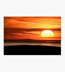 Isle of Anglesey View of Ireland Mountains Sunset Photographic Print