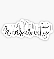 cityscape outline - kansas city Sticker