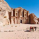 Al Deir, Petra by Mark Prior