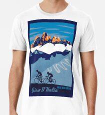 Giro D' Italia Retro  Passo Dello Stelvio Cycling Poster Men's Premium T-Shirt