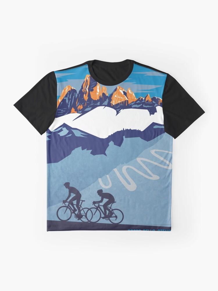 Vista alternativa de Camiseta gráfica Giro D 'Italia Retro Passo Dello Stelvio Cartel de ciclismo