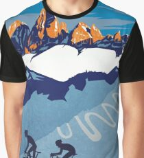 Giro D' Italia Retro  Passo Dello Stelvio Cycling Poster Graphic T-Shirt