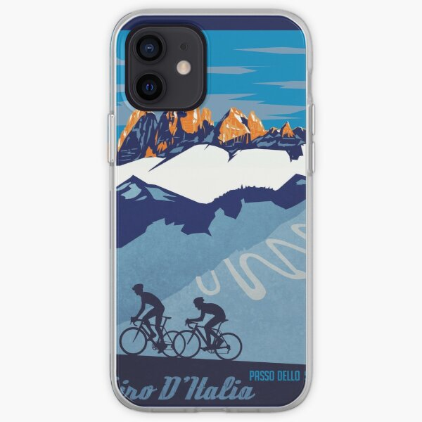Giro D 'Italia Rétro Passo Dello Stelvio Cycling Poster Coque souple iPhone