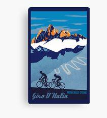 Giro D' Italia Retro  Passo Dello Stelvio Cycling Poster Canvas Print