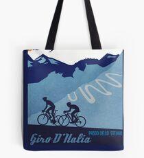 Giro D' Italia Retro  Passo Dello Stelvio Cycling Poster Tote Bag
