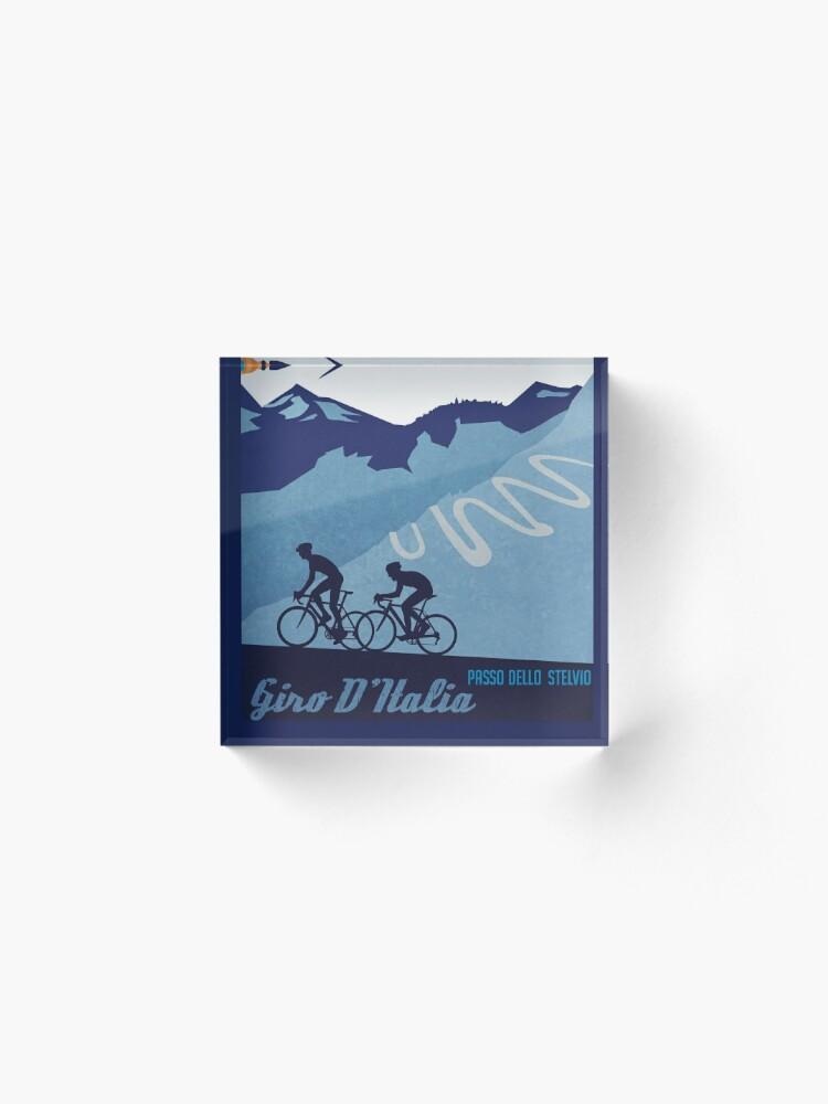 Alternate view of Giro D' Italia Retro  Passo Dello Stelvio Cycling Poster Acrylic Block