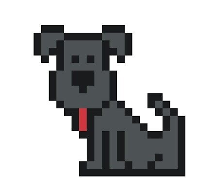 Grey Dog Pixel Art By Spaceprincesam Redbubble