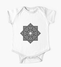 Celtic Knot Ornament Pattern Black and White One Piece - Short Sleeve