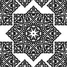 Celtic Knot Ornament Pattern Black and White by artsandsoul