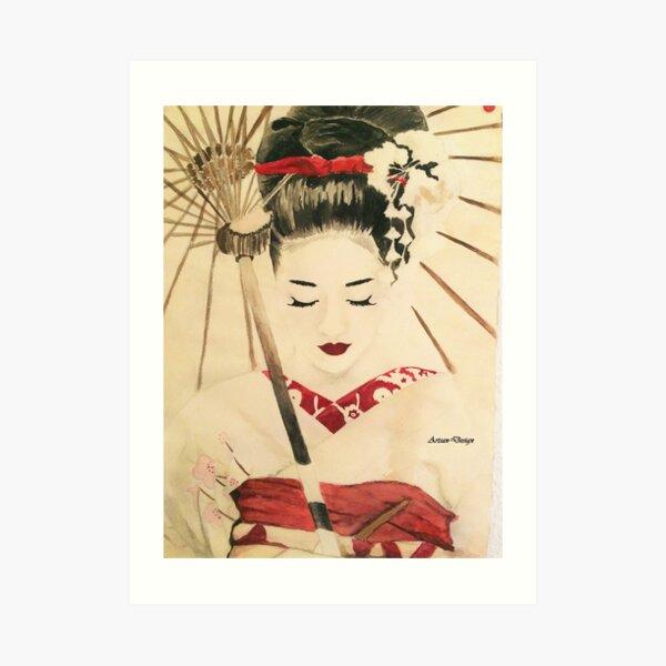 Geisha Kunstdruck