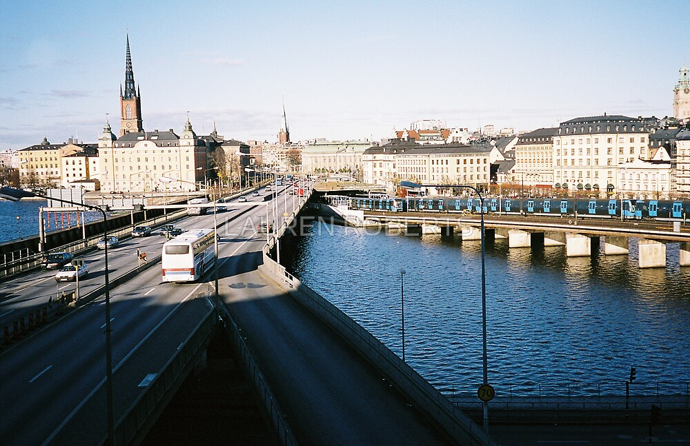 View from Sodermalm, Stockholm by LAUREN ROBERTS