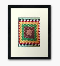 Crochet Square Framed Print