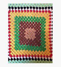 Crochet Square Photographic Print