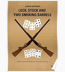 No441- Lock Stock and Two Smoking Barrels minimal movie poster Poster