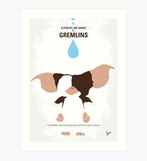 No451- Gremlins minimal movie poster Art Print