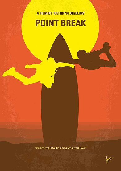 No455 - Point Break minimales Filmplakat von ChungKong Art