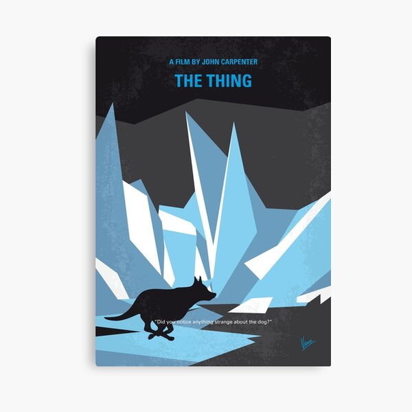 No466- The Thing minimal movie poster Canvas Print