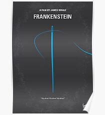 No483- Frankenstein minimal movie poster Poster